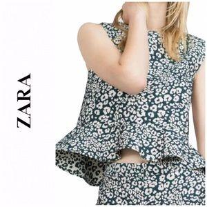 Zara Poplin Top